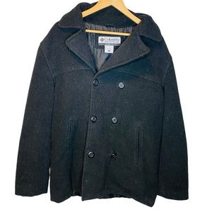 Columbia Black Pea Coat with Button front - Warm
